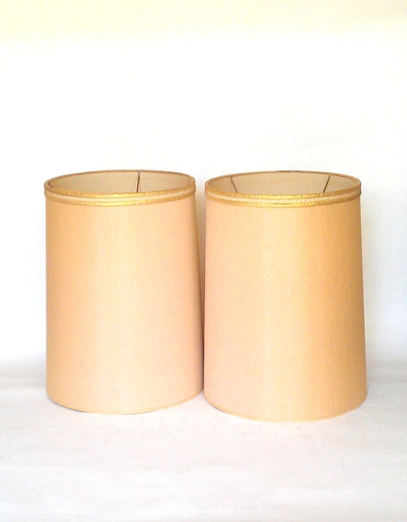 Mid Century Extra Tall Drum Lamp Shades X 2
