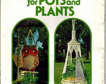 Macrame For Pots and Plants Macrame Pattern Book GM 1