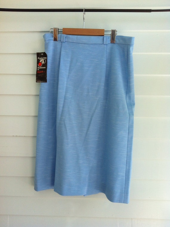 Vintage Pencil Skirt,  Blue Skirt New with Tags, New Old Stock. 3D Fashions by Milton Wallace. Large Exta Large Plus Size