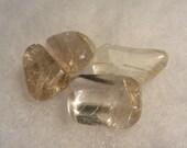 4 Rutilated Quartz Freeform Stones