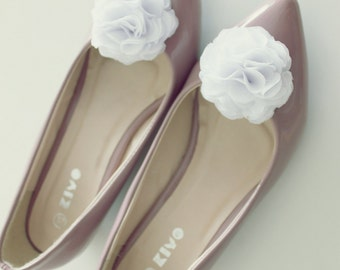 White Shoe Clips, Bridal Shoe Clips, Wedding Accessories, Bridesmaid Flower Girl, Shoe Accessories