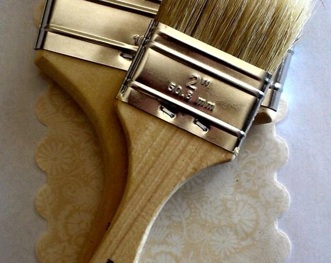 Teacher Gifts, DIY Kit, 100% Pure Bristle Brush Duo, Paint Brush, Brushes, Painting, Painting Ideas. Shabby Chic, DIY, Original Painting