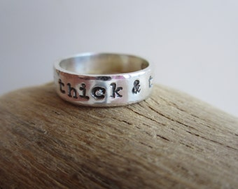 Personalized Sterling Silver Ring - Exterior Inscription