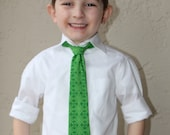 Saint Patrick's Day Medallion Adjustable Boy's Neck Tie - Size 6 Months to 5 Years