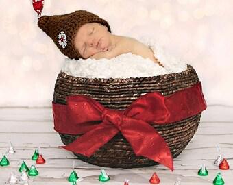 Newborn Hershey Kiss Hat - Christmas Hat