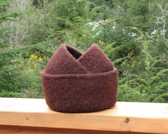 Felted Nesting Bowls Burnt Mahogany