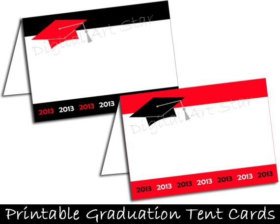 Graduation Printable Buffet Cards Tent Cards By Digitalartstar