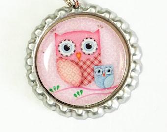 Owl Bookmark, Owl, bookmark, book mark, Shepherd Hook, gift for reader, pink, pink owl (2480)