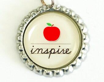 Teacher Bookmark, Teachers, Inspire, bookmark, book mark, Shepherd Hook, gift for teacher, teacher (2536)