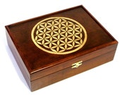 Flower of Life Heirloom Chest: Handmade, Handcrafted, Completely Custom Wooden Memory Box