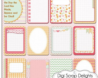Pretty Bible Journal Cards, Project Life Inspired 3x4 Printable PDF & PNG, Digital Scrapbooking, Instant Download