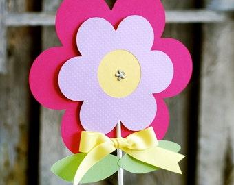 Garden Flower Party Centerpieces - set of 2