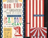 Custom -Under the BIG TOP Invitation