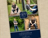 PSD Photoshop file - Elegant Graduation announcement or invitation template