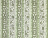 Build Your Own Custom Sample Vintage Wallpaper Packet - Single Scrap Sheet, 8 1/2 in. x 10 1/2 in. Page - Retro 70s Green Stripes