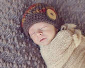 Newborn baby boy hat, infant boy hat, newborn boy photo prop, baby boy coming home outfit, baby boy clothes, newborn boy, brown, fall colors