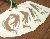 20 Sea Otter gift tag wedding favor tag personalized gift label
