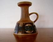 Vintage hand made artist signed pottery vase Israel