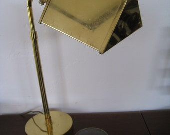 Koch and Lowy style mid century modern brass desk lamp
