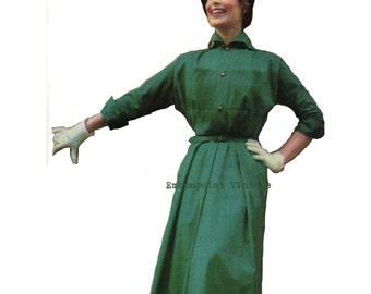 Vintage Sewing Pattern 1956 Dress PDF Plus Size (or any size)  - Pattern No 16 Lorrie