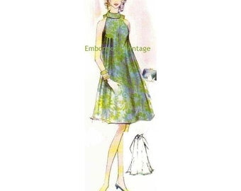 Plus Size (or any size) Vintage 1969 Women's Swing Dress Pattern - PDF - Pattern No 153 Lauri