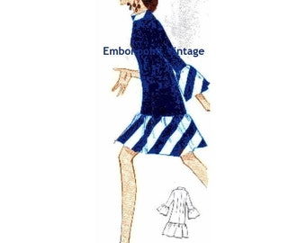 Plus Size (or any size) Vintage 1969 Dress Pattern - PDF - Pattern No 137 Bertha