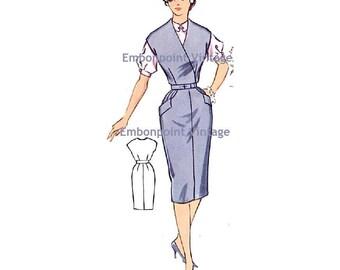 Plus Size (or any size) Vintage 1950s Womens Workwear Dress Pattern - PDF - Pattern No 81: Kim