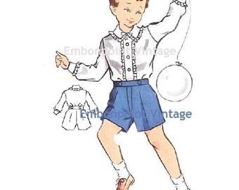 Plus Size (or any size) Vintage 1950s Boy's Shorts Pattern - PDF - Pattern No 167b William Shorts