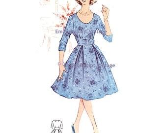 Plus Size (or any size) Vintage 1950s Dress Pattern - PDF - Pattern No 22: Kathy
