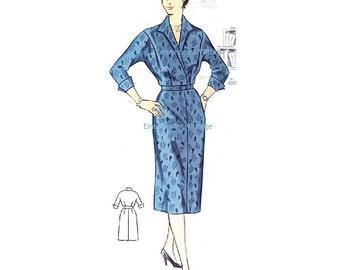 Plus Size (or any size) Vintage 1950s Dress Pattern - PDF - Pattern No 41: Laura