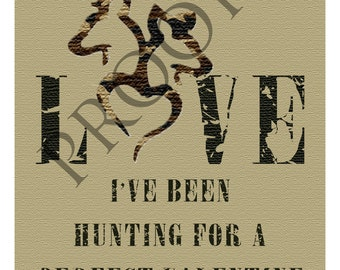 Hunting Valentine's Day or Engagement Wine Label  Custom & Personalized Available