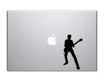 Guitar Player Rock Band Macbook and Car Decal