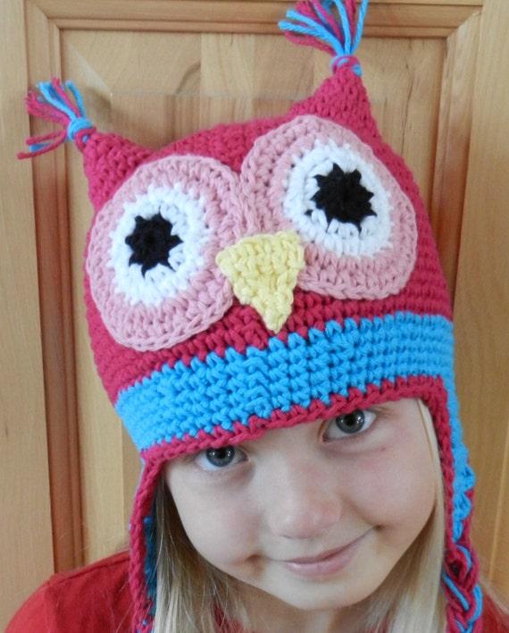 Crochet Patterns Owl Hat : Crochet Hat Pattern Childs Owl Crochet Hat by KismetCrochet
