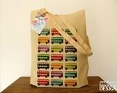 SALE London Bus Cotton Tote Bag 25% OFF