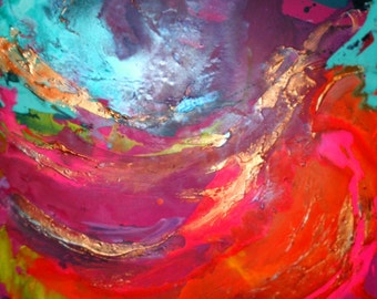 XL Original Art by Caroline Ashwood - Modern contemporary abstract painting on canvas - FREE SHIPPING