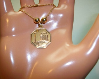 14k solid gold chain pendant necklace