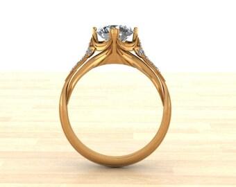 Half Carat Filigree Engagement ring