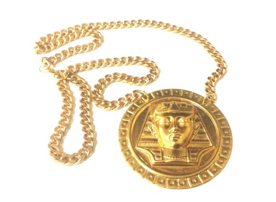 verkauf gold pharao collier gold kette versace. Black Bedroom Furniture Sets. Home Design Ideas