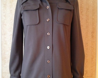 Men's designer brown polyester shirt by Givenchy Paris