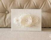 Vow Holder™ Wedding Vow Book Keepsake - Triple Flower Bloom - Bridal Silk Vow Folio - Wedding Vow Holder