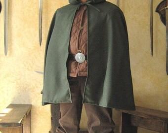 Medieval Celtic Viking Knight Short Hobbit Cloak