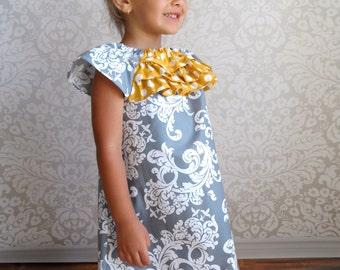Girls Ruffle Dress - Sizes 2T to 10