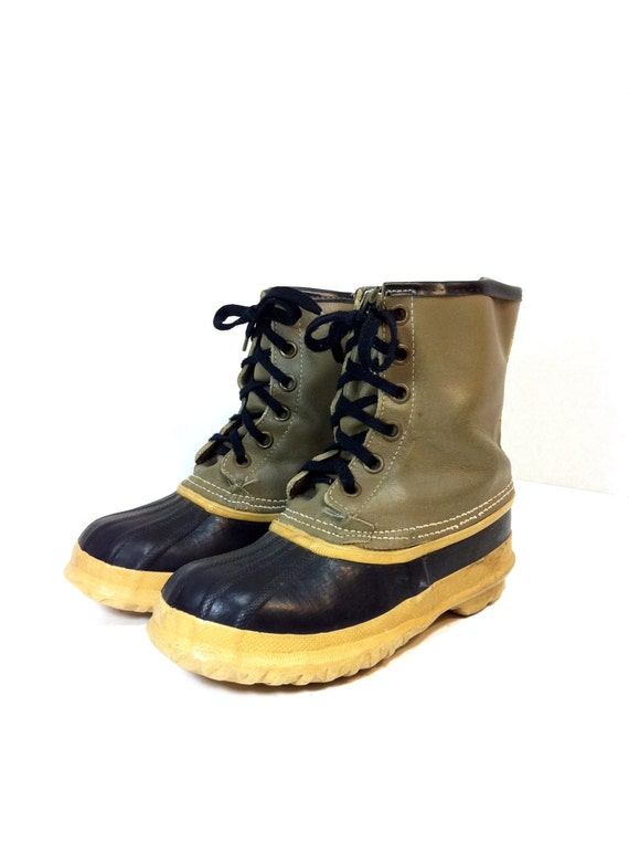 leather duck boots 8 lace up waterproof ankle boots 8