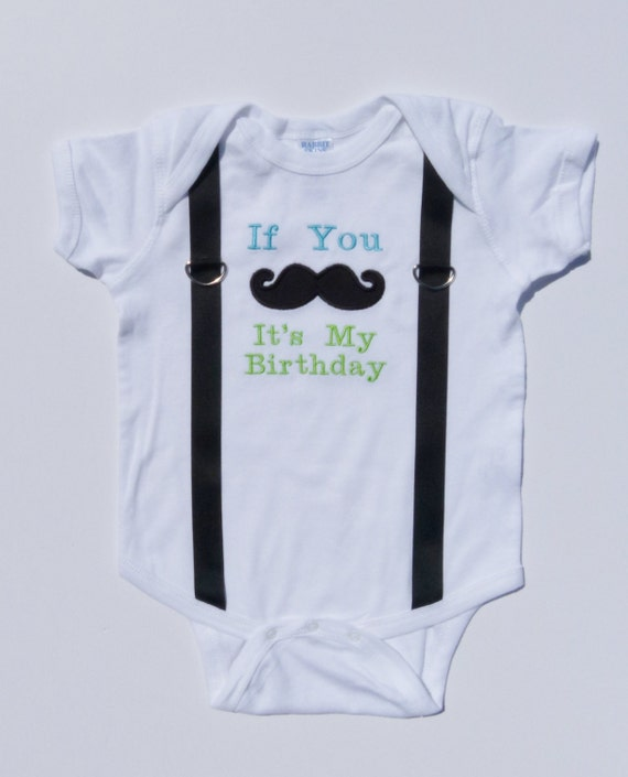 Items Similar To First Birthday Boy Bodysuit Mustache And