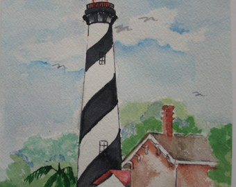 St. Augustine Light House - original -FREE SHIPPING - aoeteam