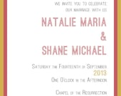 Reserved for Rachel - Printable Coordinated RSVP Postcard and Guest Information Card