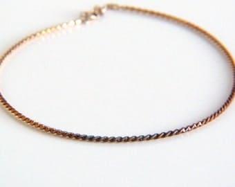 Sterling Silver Twisted Necklace - Vintage Milor Necklace - Made in Italy - 925 Silver Necklace - Spiral Silver Necklace