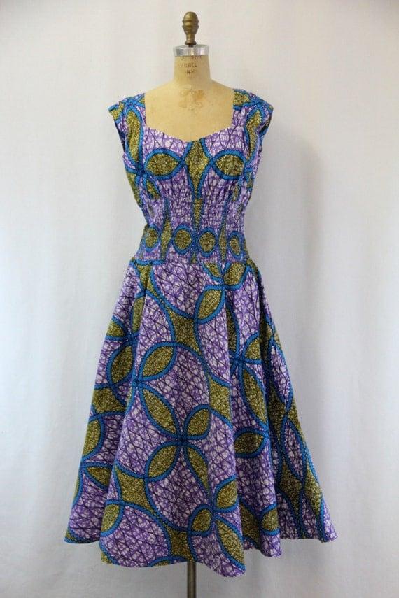 PLUS SIZE Vintage Batik Dress XXL