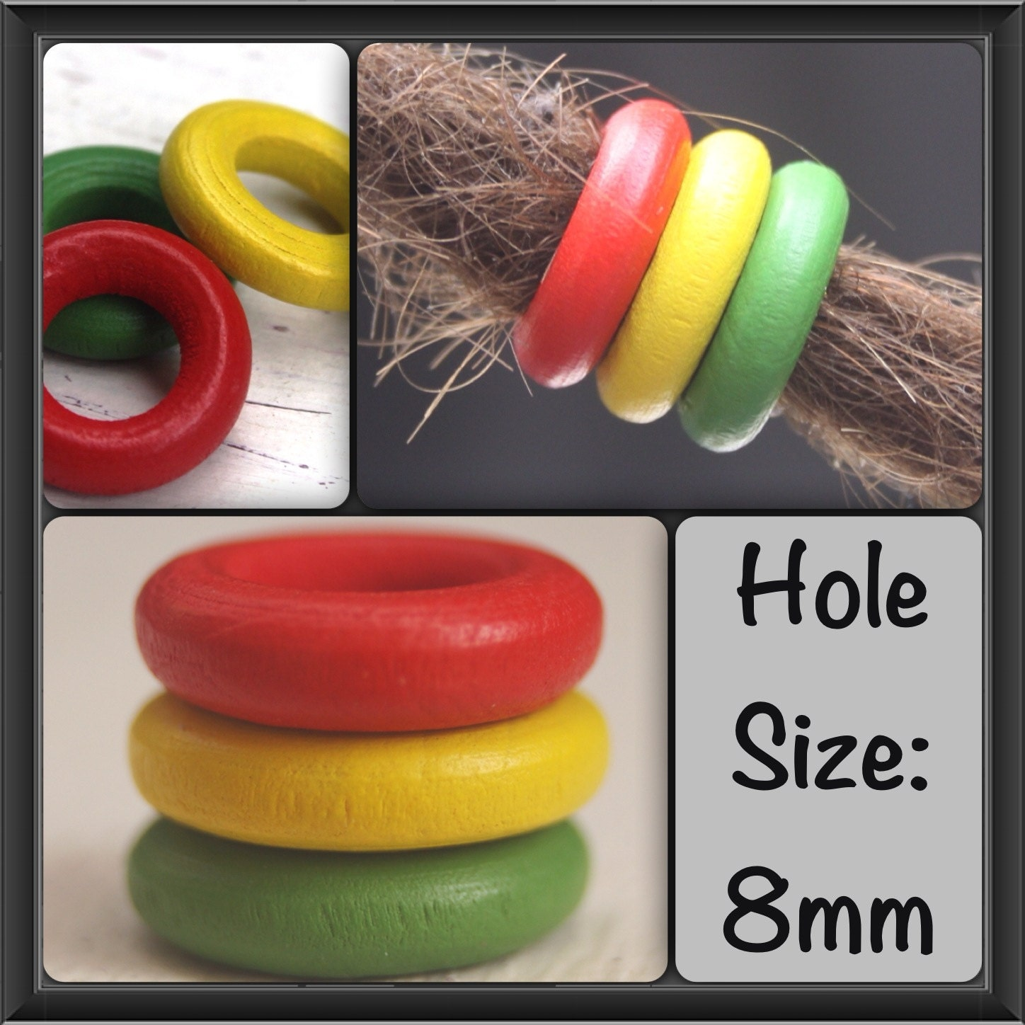 Dreadlock Rasta Beads Rasta Wooden Dreadlock