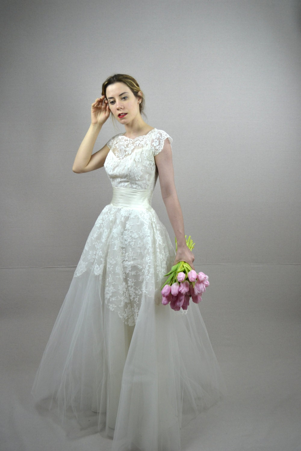 50s wedding dress vintage 1950s wedding dress briella